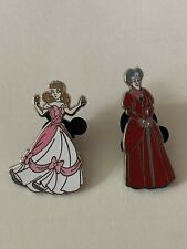 Disney Rare Cinderella and Lady Tremaine Pin Set. Uec