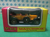 Vintage -  DAIMLER  1911    -    Matchbox  N° Y-13    Mint box