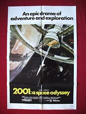 2001 : A SPACE ODYSSEY  * 1980 ORIGINAL MOVIE POSTER 1SH STANLEY KUBRICK 'S NM