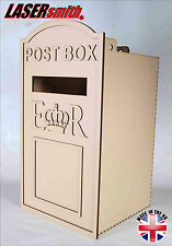 XX Large Wedding Post Box, Royal Mail Styled, Flat Pack, Unpainted MDF for Cards