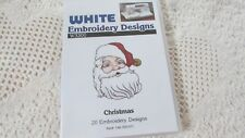 Brother Bernina White Babylock CHRISTMAS Embroidery Card Excellent with Booklet