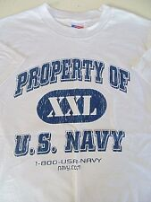 USN US NAVY RECRUITER RECRUITING PROPERTY CREW WHITE ATHLETIC PT S/S T-SHIRT XL