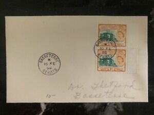 1955 Basseterre St Kitts & Nevis Cover Domestic Used