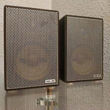 Alte WHD Mini 2-Wege Stereo Lautsprecher / ca. 17,5 cm hoch / 70-, 80er Jahre