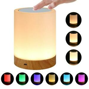 USB Rechargeable Colourful Night Light Bedside Table LED Lamp