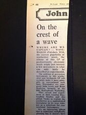 G9-1 Ephemera 1975 Article Wavemaker Album Review Where Are We Captain