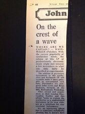 G9-1 Ephemera 1975 Article Wavemaker Album Review Where Are We Captain