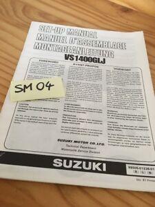 Suzuki VS1400GLJ VS1400 Intruder Vs 1400 Manual Preparation Instalacion Manual