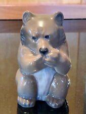 Royal Copenhagen Porcelain Brown Bear Cub Eating, 3014, Exc. Cond.