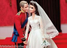 WILLIAM & CATHERINE ROYAL WEDDING GIFTSET (Kate) Barbie GOLD LABEL_W3420_NRFB