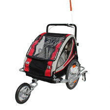 Kinderanhänger Fahrradanhänger Red Loon RB10003J+ Jogger Federung 2Kinder