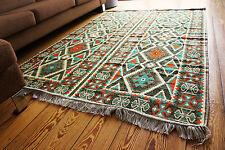 135 cm x 200 cm Orientalischer Teppich, Kelim ,Carpet aus Damaskunst S 1-4-41