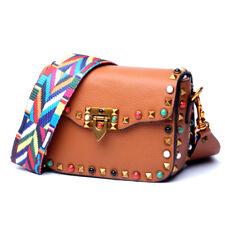 Fashion Women Genuine Leather Handbag Rivet Bag Shoulder Messager Bag Satchel