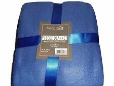 Soft and Warm Double Throw 150x200cm Plain Fleece (Royal Blue)