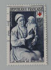 France 1953 967 YT 967 oblitéré croix rouge