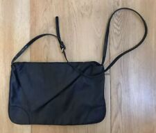 ZARA NAVY LARGE AYSYMETRIC CLUTCH WITH SHOULDER STRAP EXCELLENT CONDITION