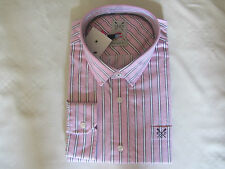 Crew Clothing Men's Striped Cotton Casual Shirts & Tops