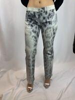 Roberto Cavalli Sparkle Sequin Leopard/Wildlife Print Jeans