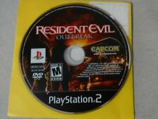 Resident Evil Outbreak Sony Playstation 2 PS2 Game Disc Only Free Ship