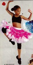 NWT Pageant Dance Costume SKIRT Ruffled Hot Pink White Small child Pettiskirt
