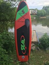 """Seal """"Fire"""" Inflatable Stand Up Paddle Board (SUP) w/ paddle 9' Long 6'' Thick"""