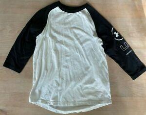 Under Armour Black & White Baseball 3/4 Sleeve Shirt (YL)