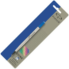GENUINE Parker Quink Rollerball Pen Refill Medium Point  BLUE Ink