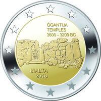 MALTA Ggantija Temples - 2 Euro Commemorative Coin - 2016 Issue UNC - RARE
