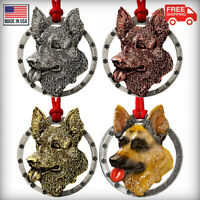 Creative Pewter Designs German Shepherd Dog Christmas Tree Ornament, D084OR