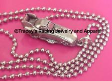 NHRA Nitro Funny Car Jewelry auto racing jewelry necklace silvertone chain