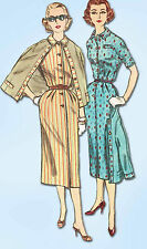 1950s Vintage Simplicity Sewing Pattern 2182 Uncut Misses Slenderette Dress Sz12