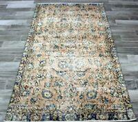 Oriental Handmade Carpet Turkish Vintage Distressed Boho Wool Ethnic Rug 3x6 ft.