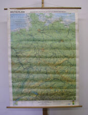 Belle ancienne République fédérale d'Allemagne et RDA ~ 1986 97x135cm Vintage Wall Map