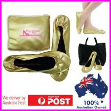 Foldable Flats ballet shoes FOLD up EXPANDABLE POUCH TO BAG size 6 to 12 folding