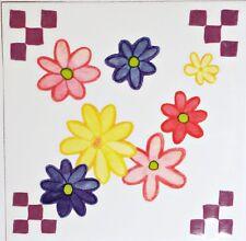 Daisy Flower Rub On Permanent Transfer Decal Glass Tiles Plastic DT50
