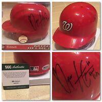 Nationals MVP BRYCE HARPER Signed Autographed BASEBALL MINI HELMET 1/1? SGC COA