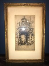 Hedley Fitton Original, Signed/framed Etching Proof? Very Early Unusual Specimen