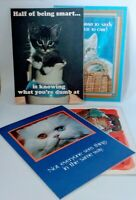 4 VTG Russ Poster Coaster Snack Mat Plaque Pad Dog Cat  Funny Humorous 1979