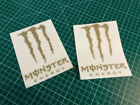 x2 Monster energy 12,5x9,5cm - 20 couleurs au choix - Autocollant decals vinyls