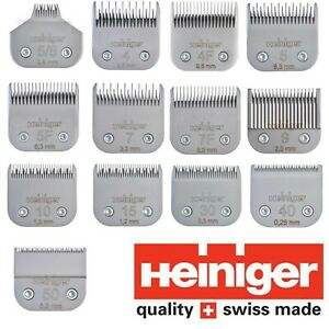Heiniger Saphir Detachable Clipper Blades Dog & Cat Grooming Suit Wahl Oster A5