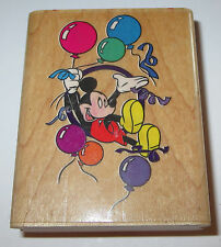 Mickey Mouse Party Rubber Stamp Disney Balloons Streamers Retired 419-E