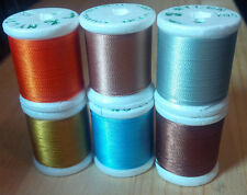 12 Spools GUDEBROD NCP Rod Winding Thread  Olive Green #1892 Size D 1200 Yds
