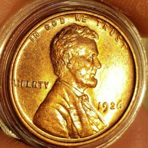 1926s,pGEM,BU,CHOICE,RED LINCOLN CENT BETTER DATEE