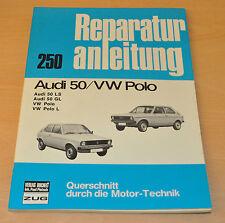 VW Polo AUDI 50 L LS GL 1977 bis 1978 Handbuch Bucheli Reparaturanleitung B250