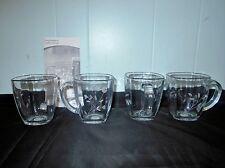 Princess House Princess Moderna Coffee Mugs #2452~NEW IN BOX