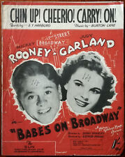 """Chin Up! Cheerio! Carry! On! From """"Babes On Broadway"""" with Judy Garland 1941"""