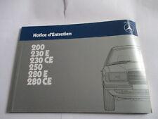 Manual de instrucciones Benz W 123 200 230 250 280 E CE Notice d'Mantenimiento
