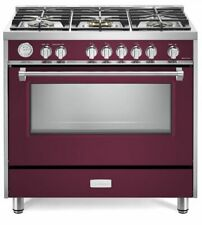 "Verona Designer Series Vdfsgg365Bu 36"" All Gas Range Convection Oven Burgundy"