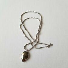 Kendra Scott Corla Gold Pyrite Necklace Pendant Retired