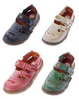 Damen Echt Leder Sandalen TMA Eyes 7093 Schuhe  Halbschuhe Sandaletten Gr. 36-42
